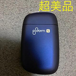 プルームテック(PloomTECH)の超美品 一度のみ使用 Ploom s プルームエス ネイビー(タバコグッズ)