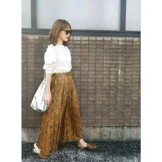ZARA - ザラ パイソン柄 ロングプリーツスカート