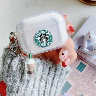 スターバックスコーヒー(Starbucks Coffee)の‼️可愛いスターバックスチャーム付き‼️ AirPods pro ケース(ヘッドフォン/イヤフォン)