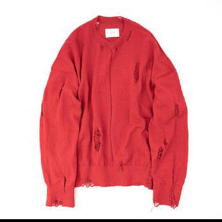 SUNSEA - stein 21ss oversized damaged knit red
