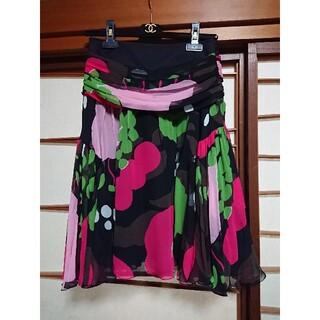 ケンゾー(KENZO)の未使用◆KENZO シルクスカート(ひざ丈スカート)