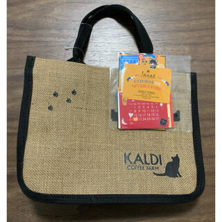 カルディ(KALDI)のカルディ オリジナル ネコの日バッグ カレンダー(トートバッグ)