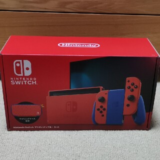 ニンテンドースイッチ(Nintendo Switch)のNintendo Switch マリオレッド × ブルー セット(家庭用ゲーム機本体)