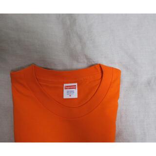 シュプリーム(Supreme)のsupreme 無地 蛍光オレンジ ロンT(Tシャツ(長袖/七分))