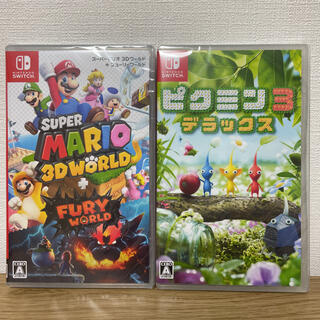 ニンテンドースイッチ(Nintendo Switch)のピクミン3,マリオ3Dワールド+フューリーワールド新品未開封セット(家庭用ゲームソフト)
