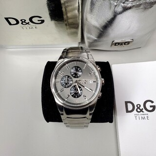 DOLCE&GABBANA - 美品 ドルガバ 「サンドパイパー」 クロノグラフ メンズ腕時計 D&G