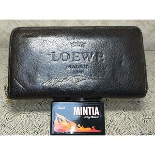 ロエベ(LOEWE)のLOEWEオールドロエベ長財布ラウンドファスナーチョコレート×ベージュ(長財布)