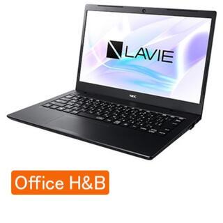エヌイーシー(NEC)のNEC ノートパソコン オフィス付き ブラック PC-SN212SADG-D(ノートPC)