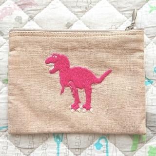 ウニコ(unico)の恐竜 刺繍 布地ポーチ(ポーチ)