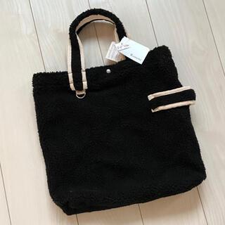 ROOTOTE - 新品 ボア トートバッグ ハンドバッグ もこもこ 黒 ブラック A4サイズ