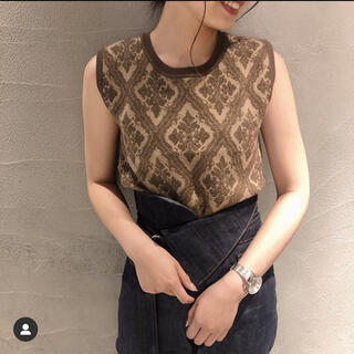 Ameri VINTAGE - MAGGIE KNIT MINI TOP トップスのみ