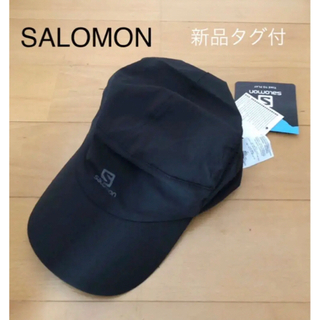 サロモン(SALOMON)の新品タグ付☆SALOMON サロモン キャップ 帽子 ランニング トレラン 黒(ウェア)