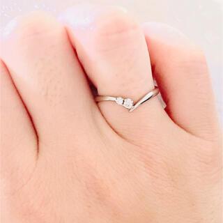 テイクアップ(TAKE-UP)のプラチナ ダイヤモンド リング(リング(指輪))