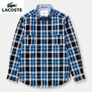 ラコステ(LACOSTE)の美品 LACOSTE ラコステ 長袖チェックシャツ(シャツ)