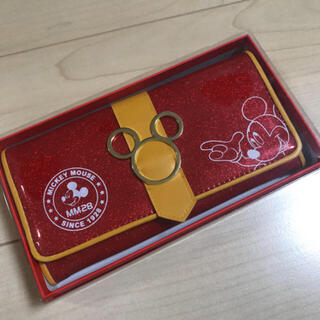 Disney - ☆新品☆ ミッキー ディズニー 長財布 財布 エナメル ラメ 赤