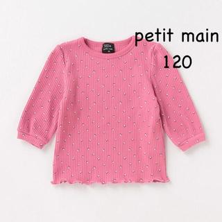 プティマイン(petit main)のプティマイン 8分袖 トップス 120(Tシャツ/カットソー)