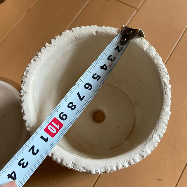 unico(ウニコ)のアランニット模様 植木鉢 アンティーク インテリア/住まい/日用品のインテリア/住まい/日用品 その他(その他)の商品写真