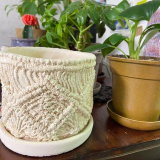 unico - アランニット模様 植木鉢 アンティーク