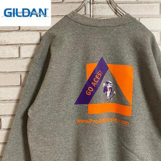 ギルタン(GILDAN)の90s 古着 ギルダン スウェット 両面プリント トレーナー ゆるだぼ(スウェット)