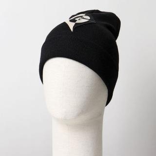 グッチ(Gucci)の正規店購入 グッチ ハイゲージウール ロゴ ニットキャップ 黒 新品(ニット帽/ビーニー)