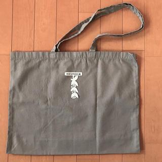 mina perhonen - ミナペルホネン エコバッグ グレー布製 ショップバッグ