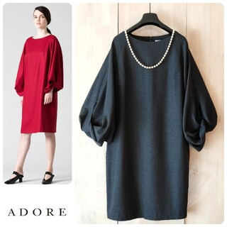 ADORE - ◆幻◆ 希少美品 定価4.3万円 ADORE ビッグスリーブワンピース 入学式