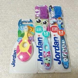 ジョーダン ステップベビー・こども歯ブラシセット(歯ブラシ/歯みがき用品)