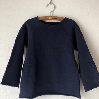 ゴートゥーハリウッド(GO TO HOLLYWOOD)の美品ゴートゥーハリウッドトレーナーネイビー110(Tシャツ/カットソー)