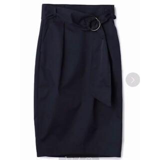 エストネーション(ESTNATION)のネイビー スカート エストネイション 38(ひざ丈スカート)