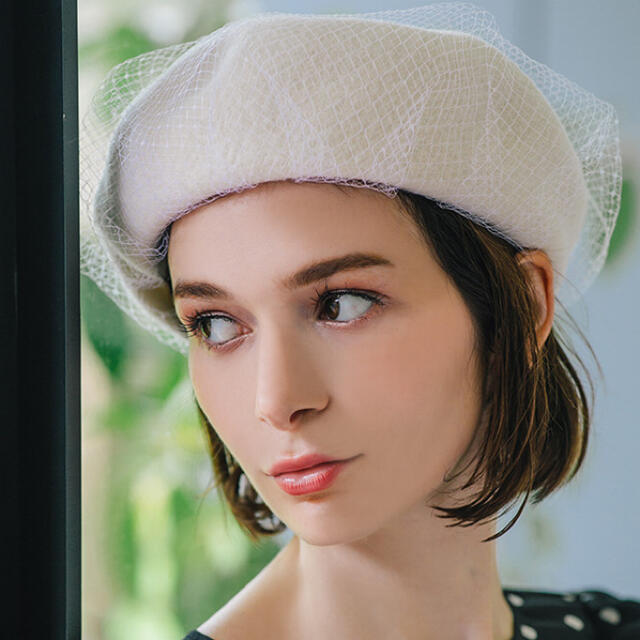 eimy istoire(エイミーイストワール)のeimy istoire チュールベレー レディースの帽子(ハンチング/ベレー帽)の商品写真