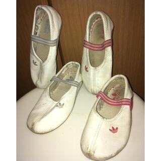 アディダス(adidas)の2足セット Mary J2 ピンク14 紫15 バレエシューズ(スリッポン)
