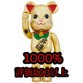 メディコムトイ(MEDICOM TOY)のbe@rbrick 招き猫 金メッキ 昇運 1000%(フィギュア)
