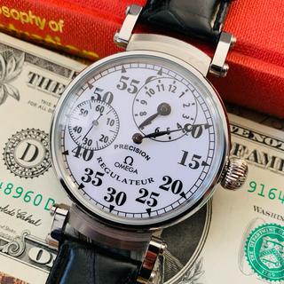OMEGA - 【OH済・動作良好】オメガ レギュレーター 手巻き 腕時計 アンティーク メンズ