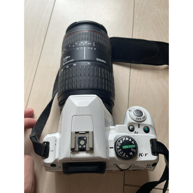 PENTAX(ペンタックス)の【レンズ付き】PENTAX K−R K-R WHITE/WHITE 中古 貰い物 スマホ/家電/カメラのカメラ(デジタル一眼)の商品写真