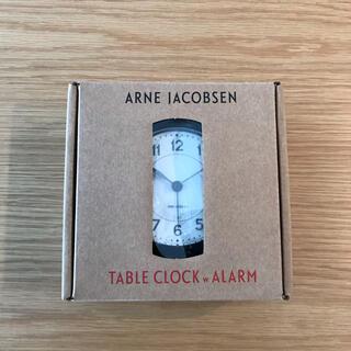 アルネヤコブセン(Arne Jacobsen)のアルネ ヤコブセン テーブルクロック ブラック 黒 目覚まし時計 置時計 時計(置時計)