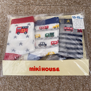 mikihouse - 新品未使用 ミキハウス ☆ 車 電車 男の子 靴下 ソックス 13-15cm