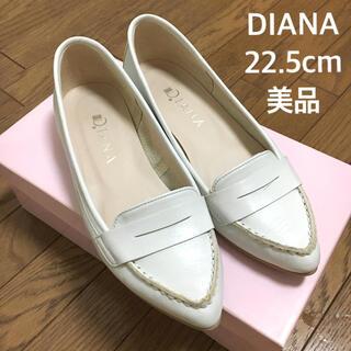DIANA - 【美品】DIANA ローヒールパンプス 22.5cm 通勤 マタニティ 本革