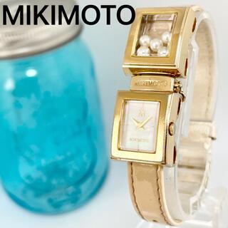 ミキモト(MIKIMOTO)の266 ミキモト腕時計 パール入り 新品電池 箱付き レディース腕時計(腕時計)