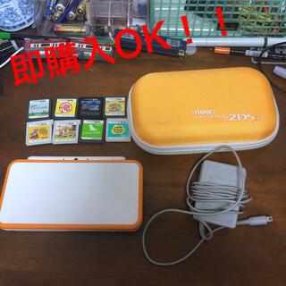 ニンテンドー2DS(ニンテンドー2DS)のNew Nintendo 2DSLL(ホワイト×オレンジ)(携帯用ゲーム機本体)
