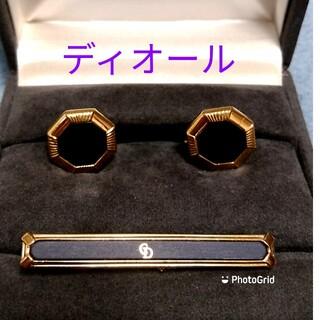 Christian Dior - ディオールネクタイピンカフスセット箱付