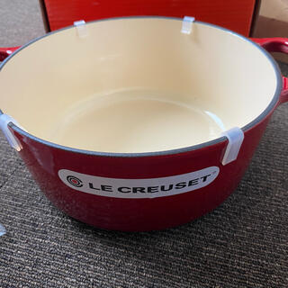 ルクルーゼ(LE CREUSET)のわけありの為格安 新品 ル・クルーゼ  ココットロンド 24cm 4.2l(鍋/フライパン)