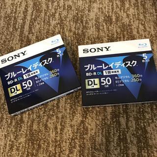 ソニー(SONY)の新品‼︎ ソニーBD-R(録画用ブルーレイディスク)/50G (5枚組)2セット(その他)