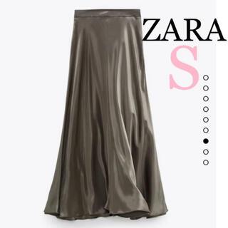 ZARA - ZARA サテン風スカート風ミディ丈スカート