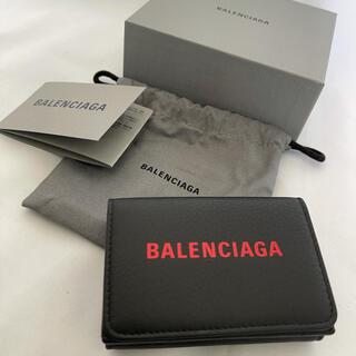 バレンシアガ(Balenciaga)の新品 BALENCIAGA  バレンシアガ ブラック ミニ ウォレット 折り財布(財布)