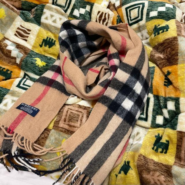 BURBERRY(バーバリー)のバーバリー  ラムウールチェックマフラー BURBERRY  ベージュ レディースのファッション小物(マフラー/ショール)の商品写真