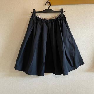 コントワーデコトニエ(Comptoir des cotonniers)のcrespi リバティ裏打ち ブラックスカート(ひざ丈スカート)