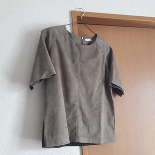 ロートレアモン(LAUTREAMONT)のスウェード調 トップス(カットソー(半袖/袖なし))