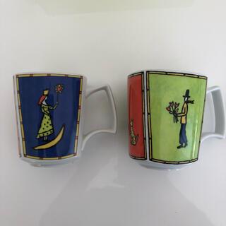 ローゼンタール(Rosenthal)のローゼンタール ペアカップ(ドイツ製/Rosen thal)(グラス/カップ)