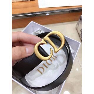 Dior - 未使用Dior ベルト ブラック 3.0cm