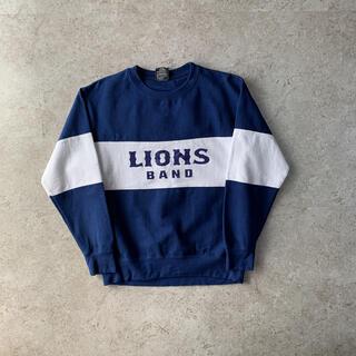 ギルタン(GILDAN)のUSED printed sweat プリントスウェット ブルー ライオンズ(スウェット)